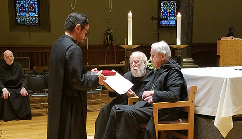 Br. Rafael: A New Novice for the Benedictine Abbey of Newark!
